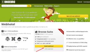 lav din egen hjemmeside - bestil webhotel
